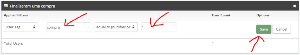 """8º No campo """"Key"""", digite """"compra"""", e no campo """"Value"""" digite """"1"""" (zero), em seguida clique no botão verde """"Save"""""""