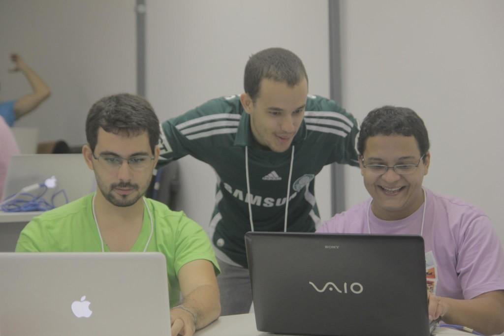 Startup Weekend Salvador: Equipe iDeal Pass (João Paulo, Liordino, eu)