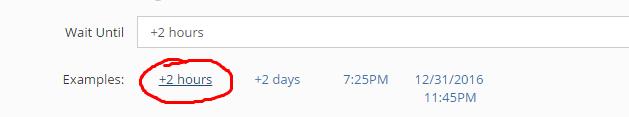 Envio após 2 horas