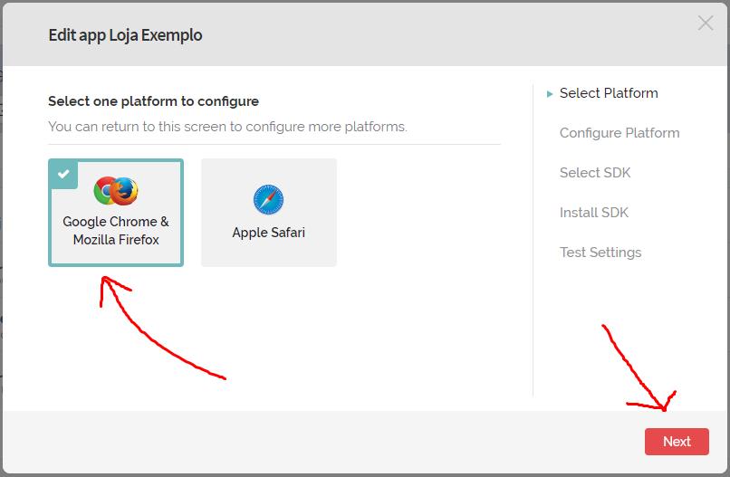 """7º Selecione a opção """"Google Chrome & Mozilla Firefox"""" e clique em """"Next"""""""