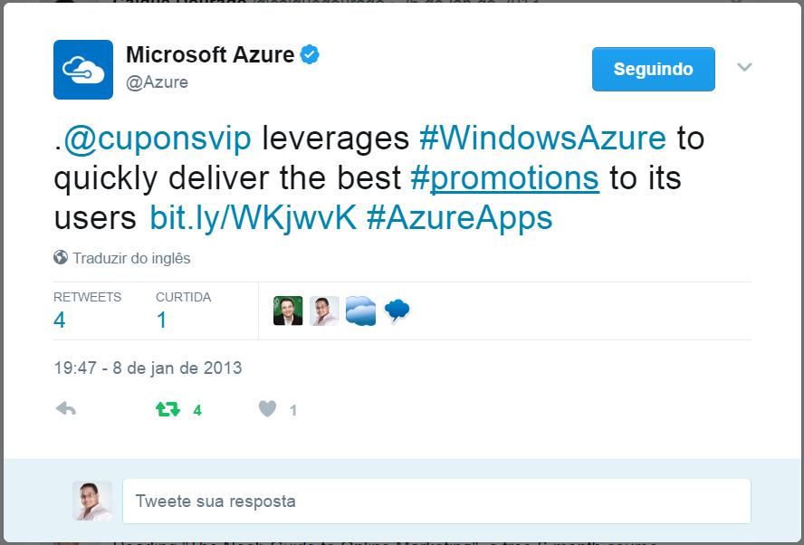 Parceria Microsoft Azure