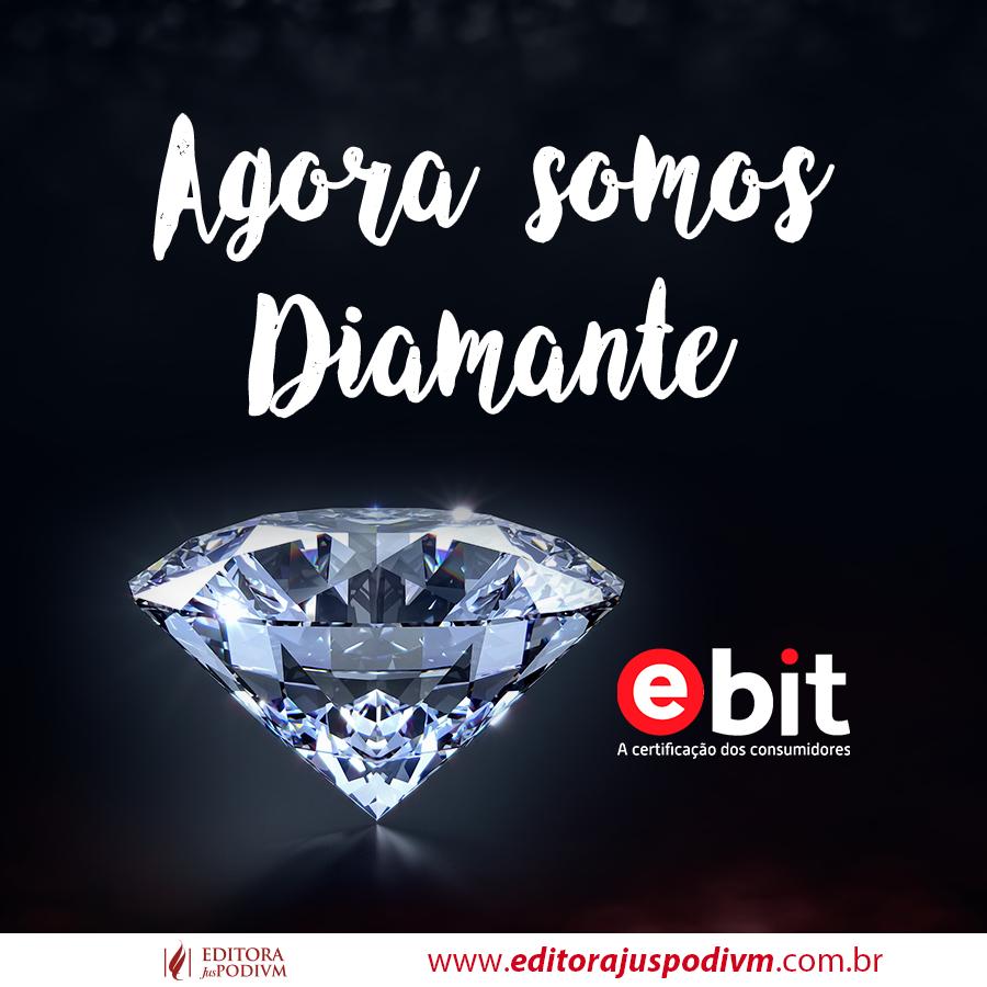Conquista do Selo Diamante no e-Bit: Somente 3 empresas possuem o selo diamante no segmento de livros em todo o Brasil